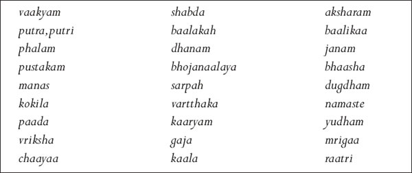 Sanskrit Words